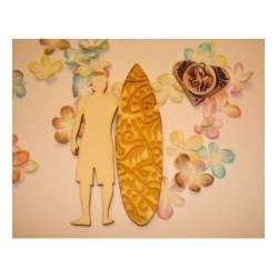 Surfeur et sa planche 02085 pour vos pages de scrapbooking