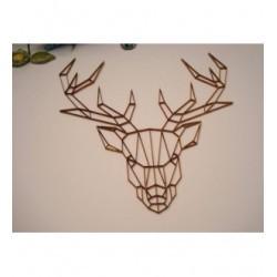 Tête de Cerf 02062 embellissement en bois pour vos créations