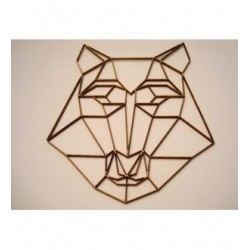 Tête de Chien 02061 embellissement en bois pour vos créations
