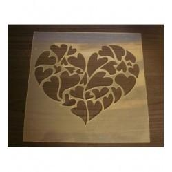 Pochoir coeur P0153a pour vos pages, vos cartes, vos murs