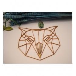Tête chouette origami 02058 embellissement en bois pour vos créations