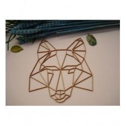 Tête de chien origami 02056 embellissement en bois pour vos créations
