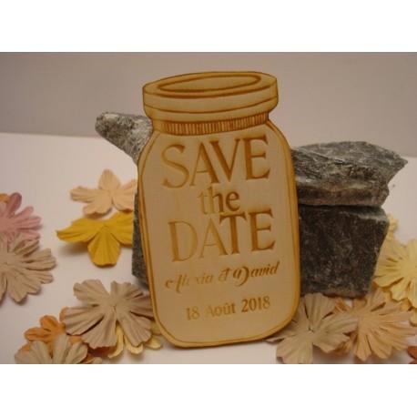 Lot 10 bocal invitation mariage 02078 en bois