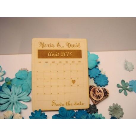 Lot 10 invitations mariage 02065a en bois