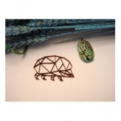 hèrison origami 02052 embellissement en bois pour vos créations