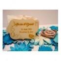 Lot 10 etiquette invitation mariage 02067 en bois