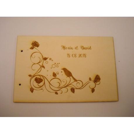 Livre d'or mariage 02063 en bois