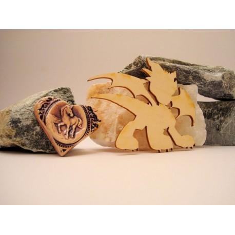 Dragon 02039 embellissement en bois pour vos créations