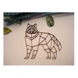 Chien origami 02050 embellissement en bois pour vos créations