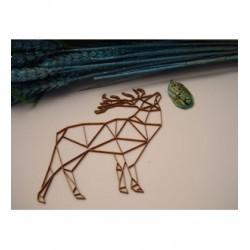 Cerf origami 02048 embellissement en bois pour vos créations