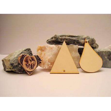 forme lot de 8 02041 embellissement en bois pour vos créations