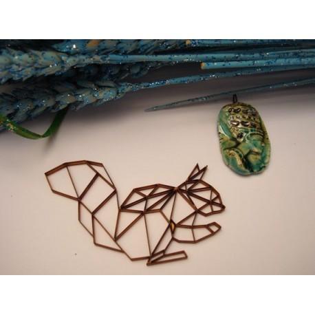 Ecureuil origami 02048 embellissement en bois pour vos créations