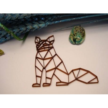 Renard origami 02047 embellissement en bois pour vos créations