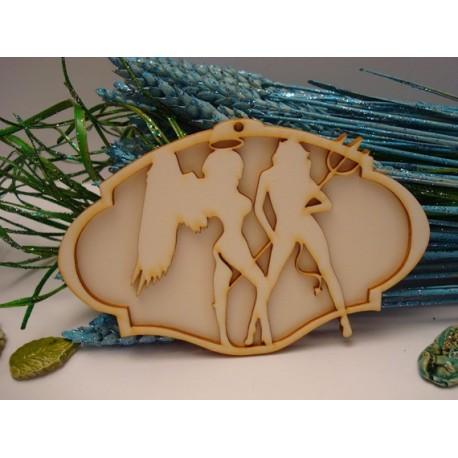 Demon 02046 embellissement en bois pour vos créations