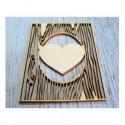 Essence de coeur 1073a une découpe en bois pour vos création