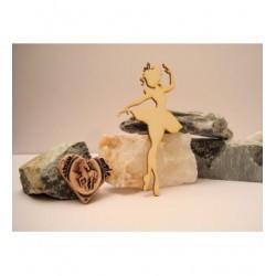 Ballerine 02040 embellissement en bois pour vos créations