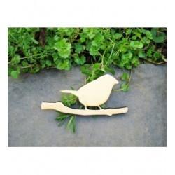 Oiseau 1322b bois 6 mm embellissement en bois pour vos créations