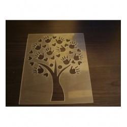 Pochoir arbre main P0209 pour vos réalisation