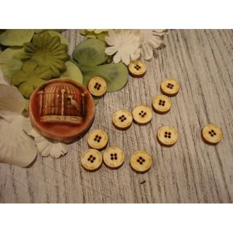 12 boutons diam 1 1934 embellissement en bois pour vos créations