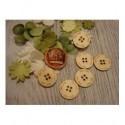 6 boutons diam 2 1933 embellissement en bois pour vos créations