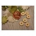 6 boutons diam 1.5 1932 embellissement en bois pour vos créations