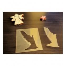 Pochoir ange P0203 pour vos pages, vos cartes, vos murs
