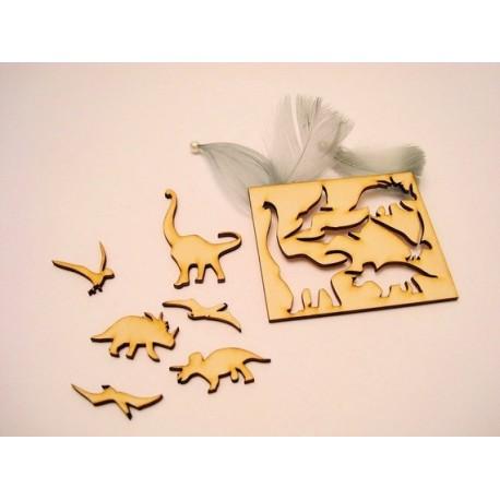 6 dinosaures gd taille 1855 un embellissement en bois pour vos créations
