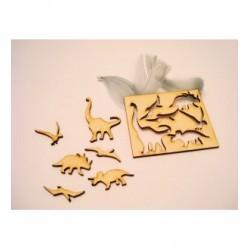 6 dinosaures 1855 un embellissement en bois pour vos créations