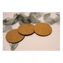 3 ronds 1831 6.5 cm diam en bois pour vos créations