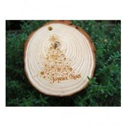 tranche de bois avec votre texte ou dessin