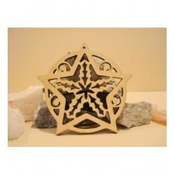 Boule étoile 1795 épaisseur 3mm pour vos réalisation pour Noël