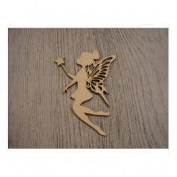 la fée et sa baguette 1415 mini embellissement en bois