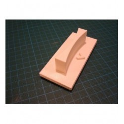 Tampon TSM022 4.5 x 9.5 cm manche en abs