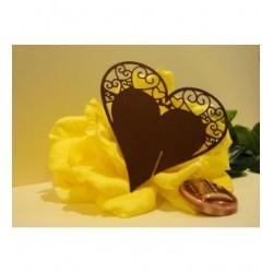 Coeur marron marque place par 10 1746