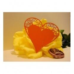 Coeur orange marque place par 10 1746