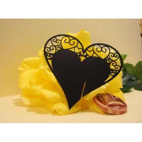 Coeur noir marque place par 10 1746