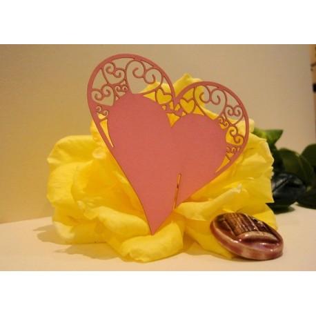 Coeur rose marque place par 10 1746