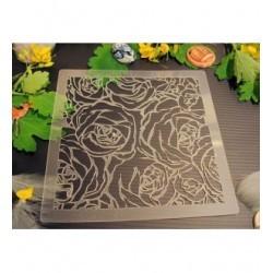 Pochoir rose P0185 pour vos pages, vos cartes, vos murs