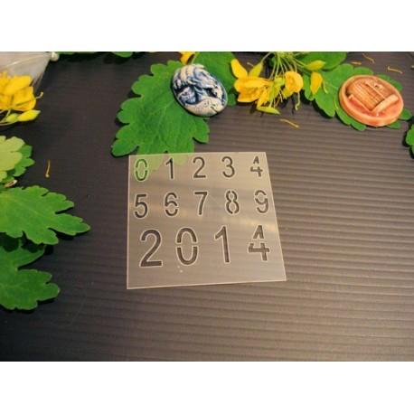 Pochoir chiffre P0184 pour vos pages, vos cartes, vos murs