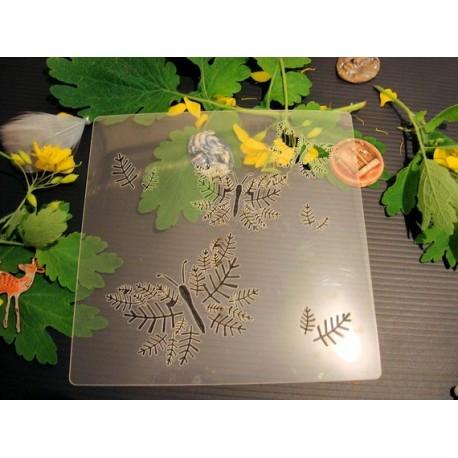 Pochoir papillon P0179 pour vos pages, vos cartes, vos murs