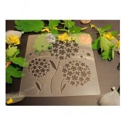 Pochoir fleurs P0178 pour vos pages, vos cartes, vos murs