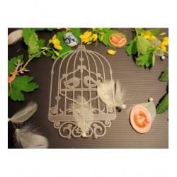 Pochoir cage à oiseau P0172 pour vos pages, vos cartes, vos murs