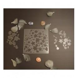 Pochoir fleurs P0164 pour vos pages, vos cartes, vos murs