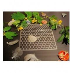 Pochoir nid d'abeille P0161 pour vos pages, vos cartes, vos murs