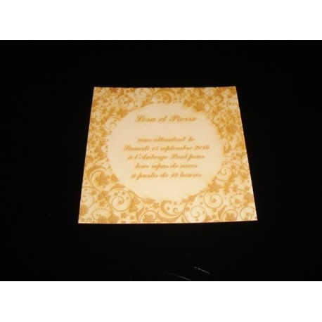 Invitation mariage 1654 carte sur mesure gravé
