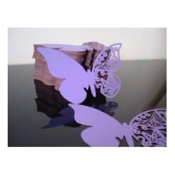 Papillon marque place par 10 -1365- papier violet