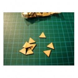 Triangle BA063 de 5 cm embellissement en bois pour vos créations