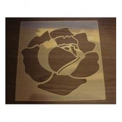 Pochoir fleur P0154 pour vos pages, vos cartes, vos murs