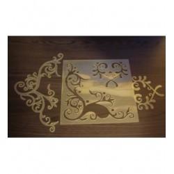 Pochoir arabesque P0156 pour vos pages, vos cartes, vos murs