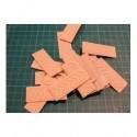 Tampon TSM004 juste le caoutchouc 5 x 5 cm sur mesure